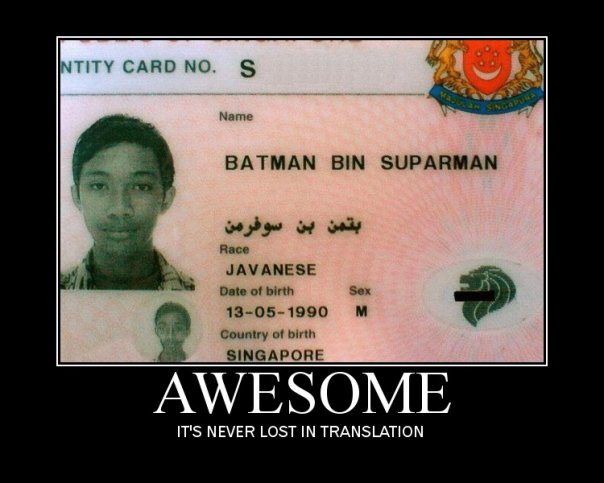 Singapore passport batman superman