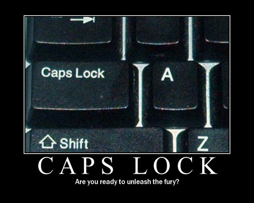 Capslock - Are you ready to unleash the fury?