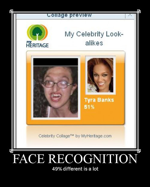 Face Recognition - 49 procent difference is a lot