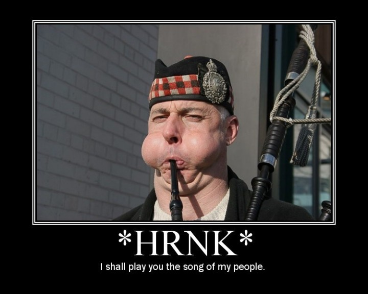 *HRNK* - I shall play you the song of my people