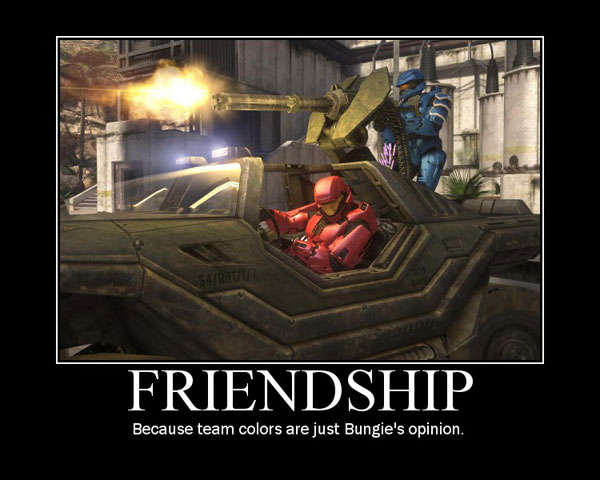 Friendship - Because team colors are just Bungies opinion