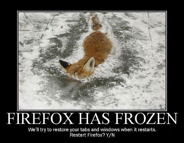 Firefox has frozen